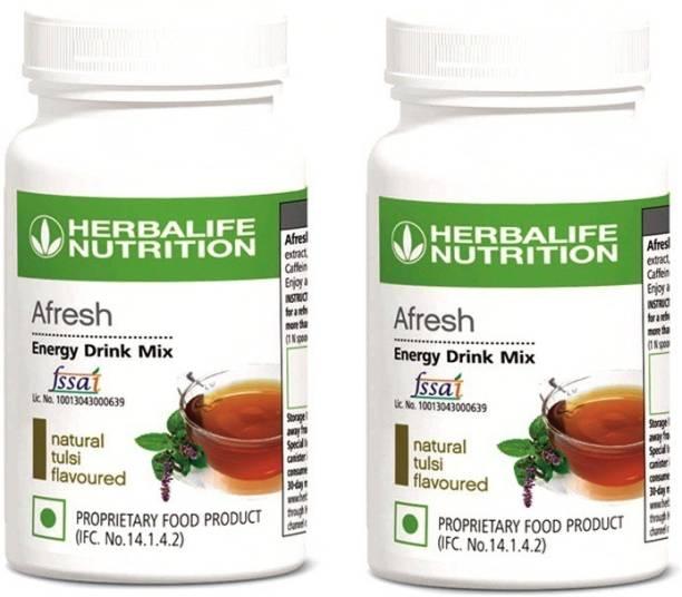 HERBALIFE Afresh Energy Drink Tulsi Flavor (50g) - Pack of 2 Energy Drink