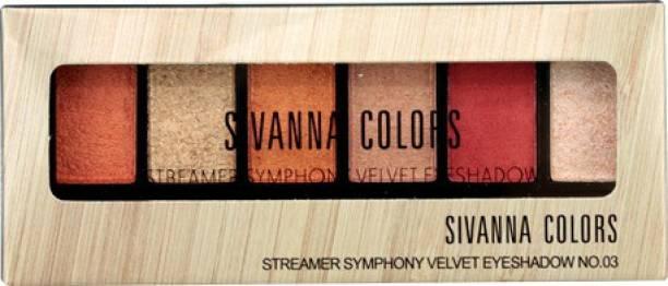 Sivanna Colors Streamer Velvet Eyeshadow Palette 15 g