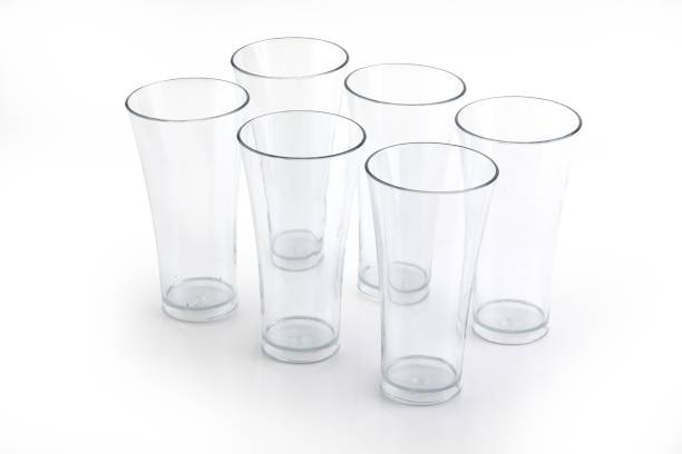 AMAR IMPEX (Pack of 6) Unbreakable Transparent Water, Juice, Cold Drinks Glass Set 300 Ml High Grade Poly Carbonate Plastic Glasses Glass Set