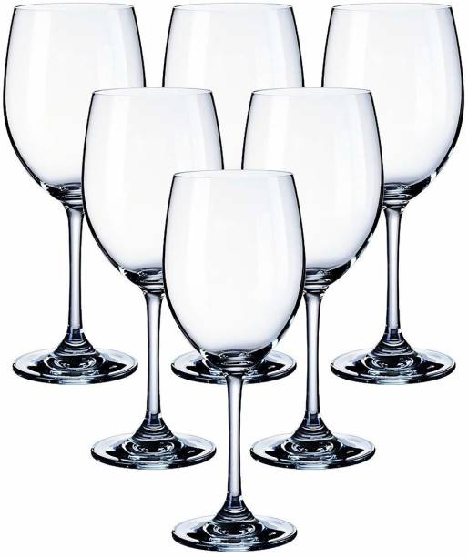 BESTAQUA (Pack of 6) crystal big wine Glass Set