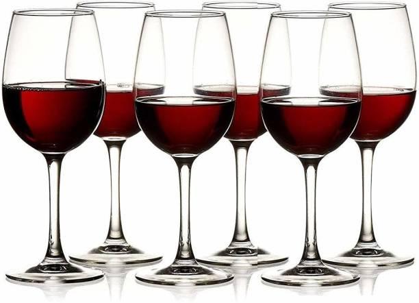 BESTAQUA (Pack of 6) crystal big wine tumbler set Glass Set