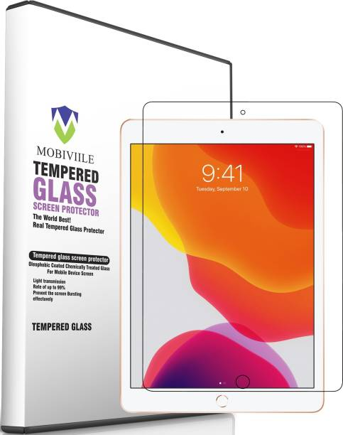 MOBIVIILE Edge To Edge Tempered Glass for Apple iPad 8th Gen 10.2 inch
