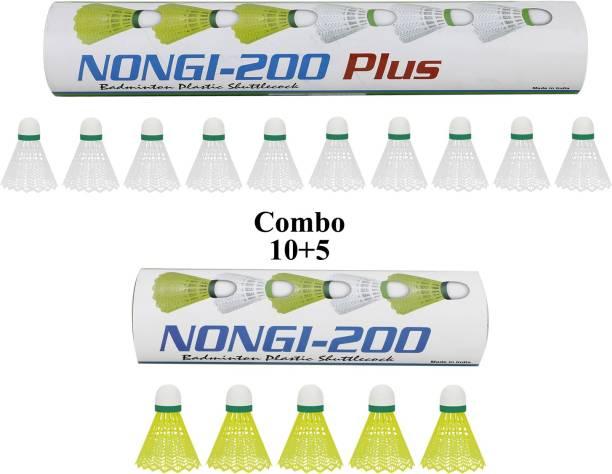 Nongi 200 Plus Plastic Shuttle  - White