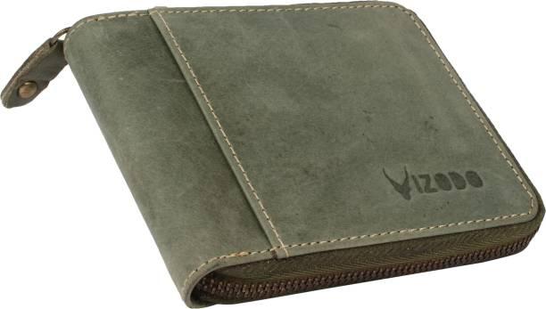 vizodo Men Casual, Trendy, Formal Green Genuine Leather Wallet