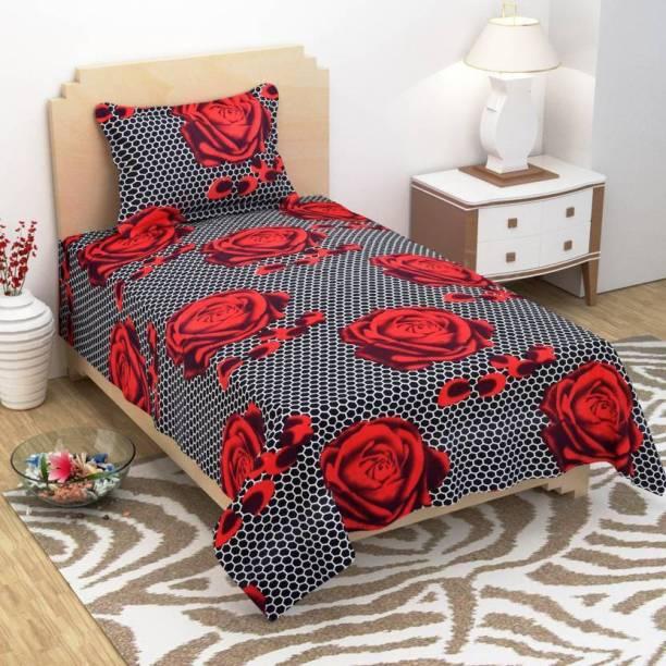ZATCHBELL 144 TC Polycotton Single Printed Bedsheet