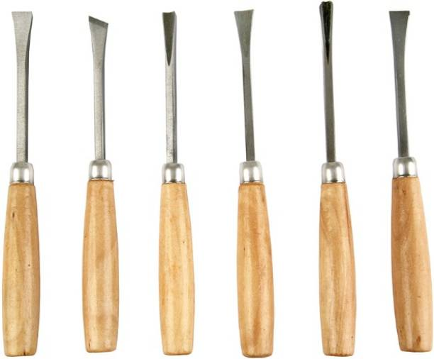 inditrust Set of 6PC Combination Chisel Set wood carving Combination Chisel Set