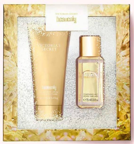 Victoria's Secret Secret Heavenly Winter collection Fragrance Mist 75ML(2.5 fl oz) + Body Lotion 100ML(3.4 fl oz) Gift Set
