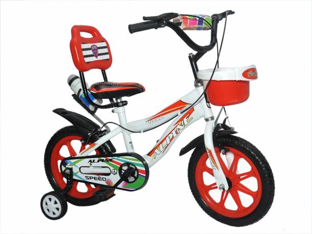 Alpine Bmx smart Red White unisex bicycle/cycle for kids 2-5 years 14 T BMX Cycle