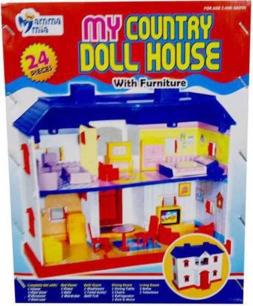Tenmar 24 piece doll housee