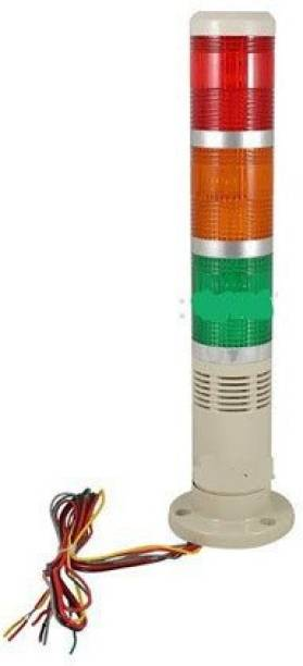 brow Industrial Signal Tower Lamp with Buzzer 3 LED Red Green Yellow Lamp 220 V AC Fire Alarm