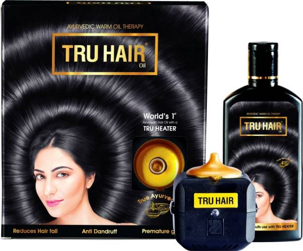 TRU HAIR with TRU HEATER AYURVEDIC Hair Oil