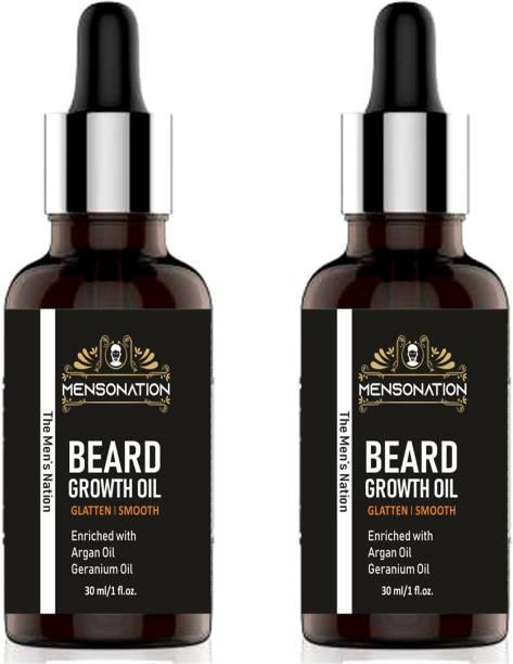 Mensonation 100% Natural Mooch And Beard Oil 30 ml Hair Oil