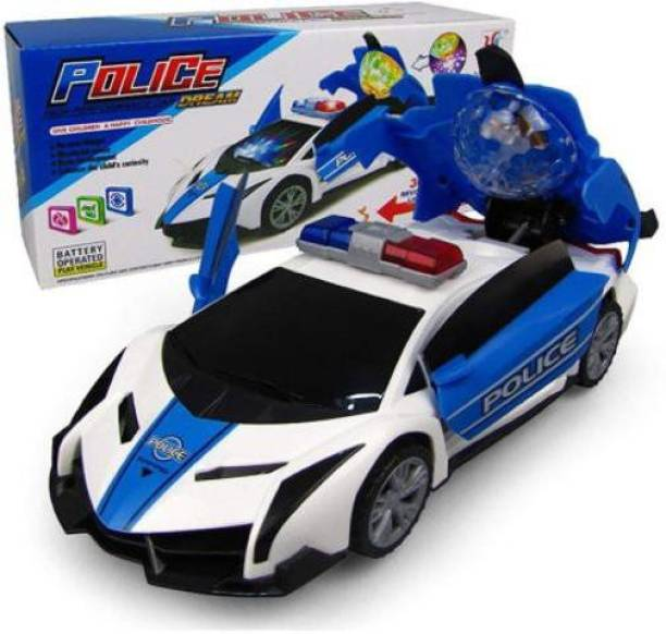 Palash Toys Police Car for kids (White)  (Blue, White)