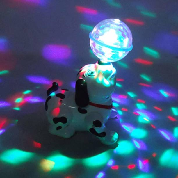 Toyvala Unique Musical Dog Rotating 360 Degree With Ball On Nose with Light & Sound