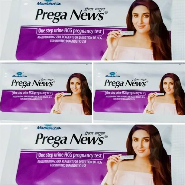 PREGANEWS Prega News One step Urine H Digital Pregnancy Test Kit (4 Tests) Pregnancy Test Kit