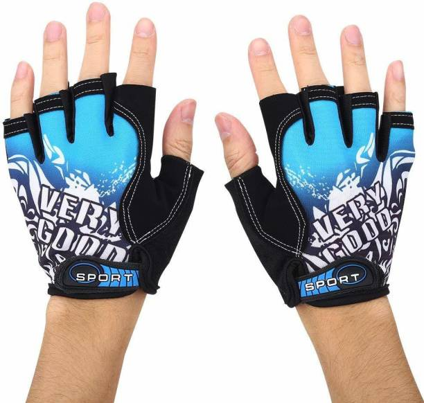 TUHI printed Riding Half Finger Gloves,Anti-Skid Silicone Gloves for Cycling Fitness Cycling Gloves