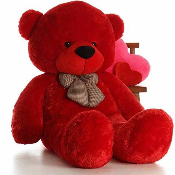 Mrbear Cute Bootsy Red 90 Cm 3 feet Hugable And Loveable For Someone Close Teddy Bear  - 89 cm