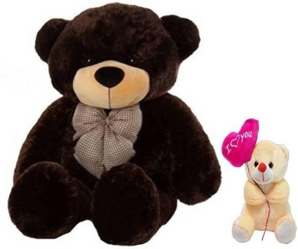 ToyKing Special Offer 5 Feet Cute Brown Teddy Bear With 26 cm Soft & Loving Balloon Teddy Bear  - 148 cm