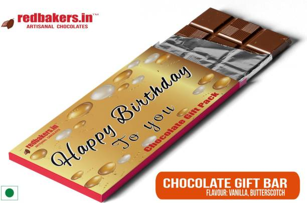 redbakers.in Happy Birthday English Chocolate Gift Bar Bars
