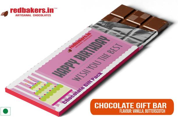 redbakers.in Happy Birthday Vanilla Chocolate Gift Bar Bars