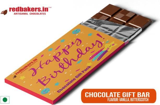 redbakers.in Happy Birthday Dark Chocolate Gift Bar Bars