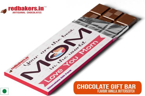 redbakers.in Best MOM Butterscotch Chocolate Gift Bar Bars