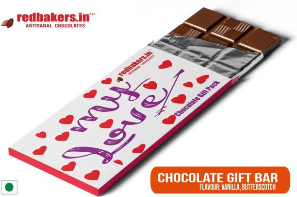 redbakers.in My Love Butterscotch Chocolate Gift Bar Bars