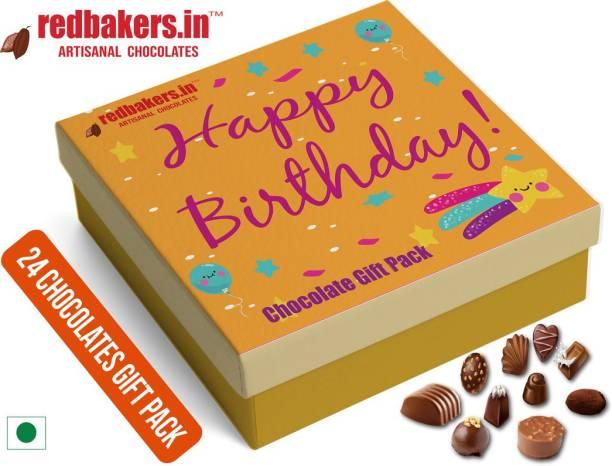 redbakers.in Happy Birthday Dark 24Chocolate Gift Box Truffles