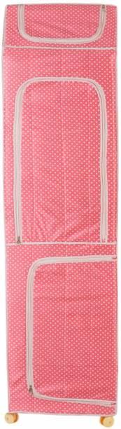 Archana Novelty 7S Star Almirah Pink PVC Collapsible Wardrobe