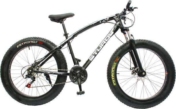 STURDY FAT MOUNTAIN BIKE WITH INCH WHEELS AND WITH 21 SPEED GEARS 26 T Fat Tyre Cycle