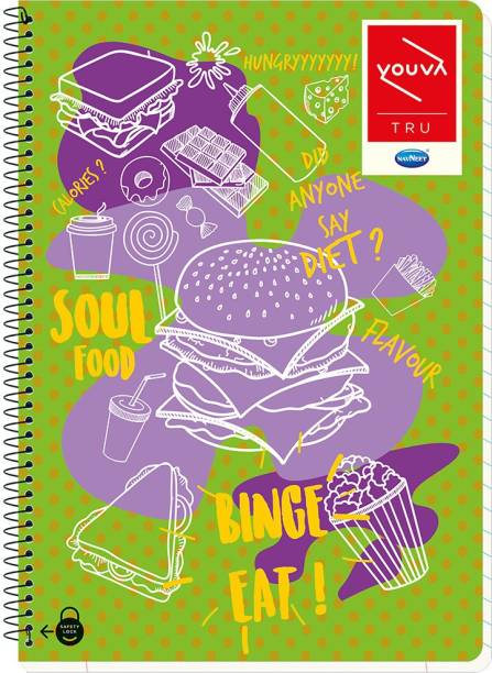 NAVNEET Youva Spiral Bound 21x29.7 cm A4 Notebook Single Line 300 Pages