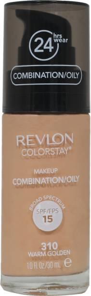 Revlon Colorstay Make Up Combination/Oily Skin (Spf-15) Warm Golden Foundation