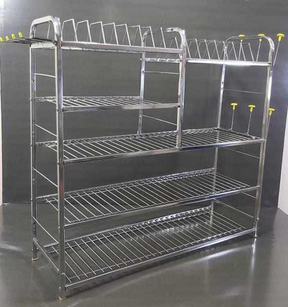 PALOMINO 5 LAYER 30*30 inch Wall Mount Modern Kitchen Utensils Dish Rack Stainless Steel Kitchen Rack Utensil Rack Utensil Stand (Steel) Steel Kitchen Rack (Steel) Utensil Kitchen Rack