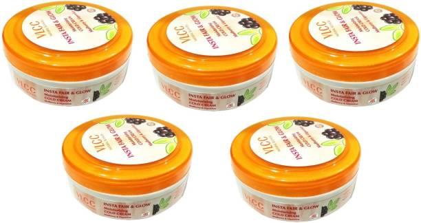VLCC Fair and Glow Moistorizing Cold Cream Set of 5