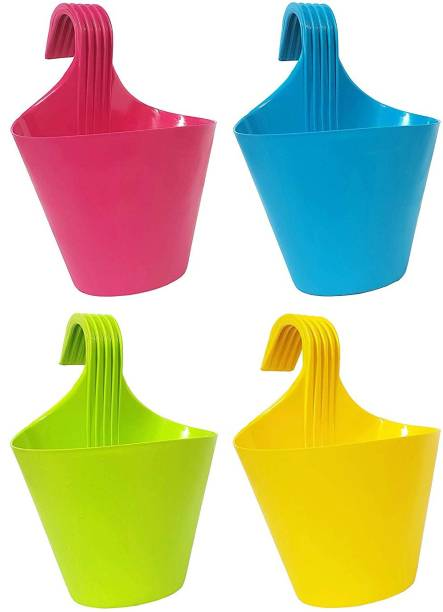 Ketsaal HANGING HOOK POT PACK OF 4 Plant Container Set Plant Container Set