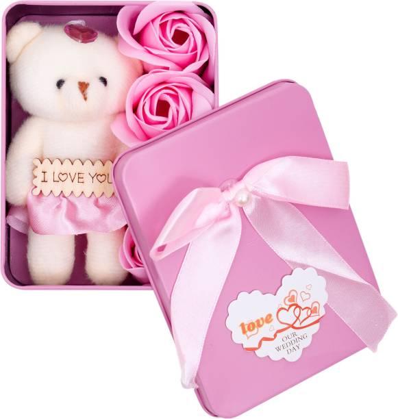 Hsn Artificial Flower, Soft Toy Gift Set