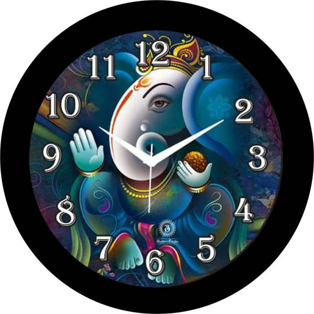 Brothers creation Analog 26 cm X 26 cm Wall Clock