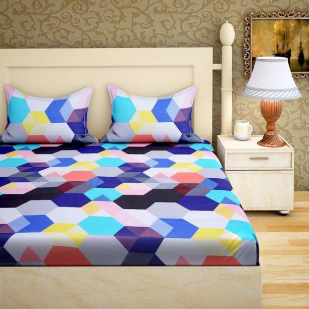 AK FAB 140 TC Cotton Double King Printed Bedsheet