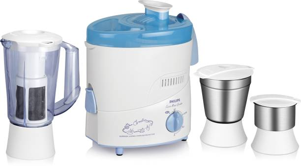PHILIPS HL1632 500 W Juicer Mixer Grinder (3 Jars, Blue)