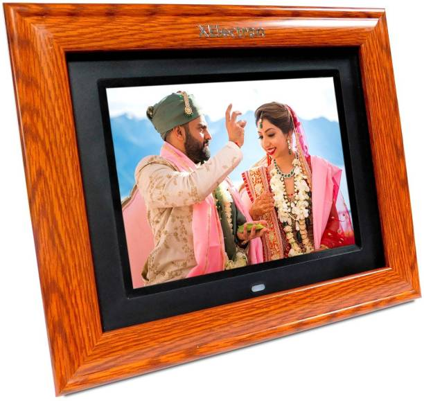 XElectron DPF805Wi 8 inch BIS Certified Digital Photo Frame Wooden Finish IPS Display