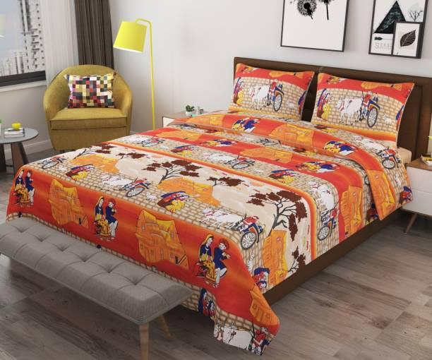 Monika 154 TC Cotton Single 3D Printed Bedsheet