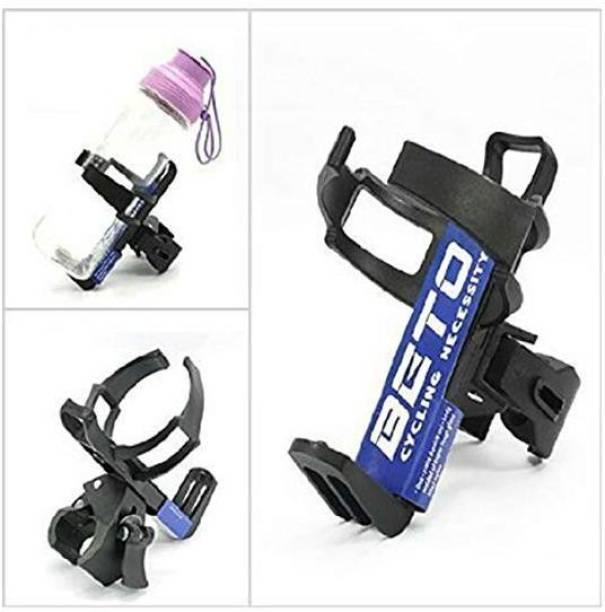 SHRI BICYCLES Adjustable Bike Bicycle Water Bottle Cage Holder Rack - Black Color Bicycle Bottle Holder