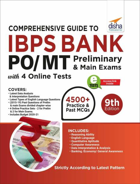 Comprehensive Guide to Ibps Bank Po/ Mt Preliminary & Main Exams with 4 Online Cbts