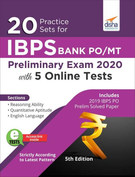 20 Practice Sets for Ibps Po/ Mt Preliminary Exam 2020 with 5 Online Tests