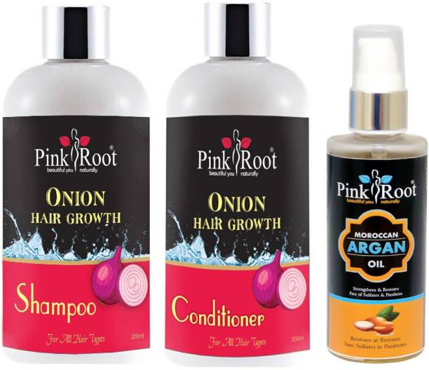 PINKROOT ONION CONDITONER & ARGAN OIL WITH ONION SHMAPOO 200ML