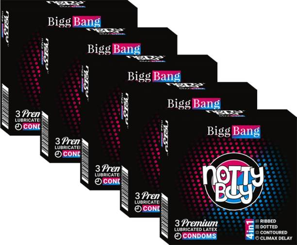 NottyBoy 4 in One - Ribbed, Climax, Dotted Snug Fit Condom
