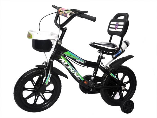 Alpine bmx smart black unisex bicycle/cycle for kids 2-5 years 14 T BMX Cycle