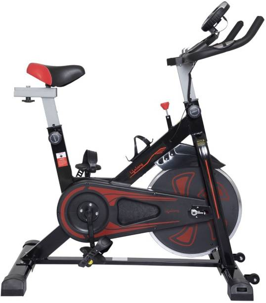 Lifelong LLF45 Fit Pro Spin Fitness with 6Kg Flywheel and Adjustable Resistance Upright Stationary Exercise Bike