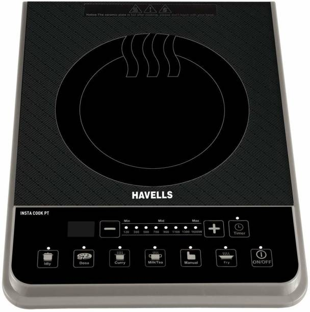 HAVELLS Induction Cooktop 1600 Watt Push button Induction Cooktop