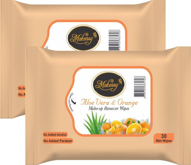 Makeasy Aloe Vera and Orange Peel Fresh Cleansing and Make-Up Remover Makeup Remover